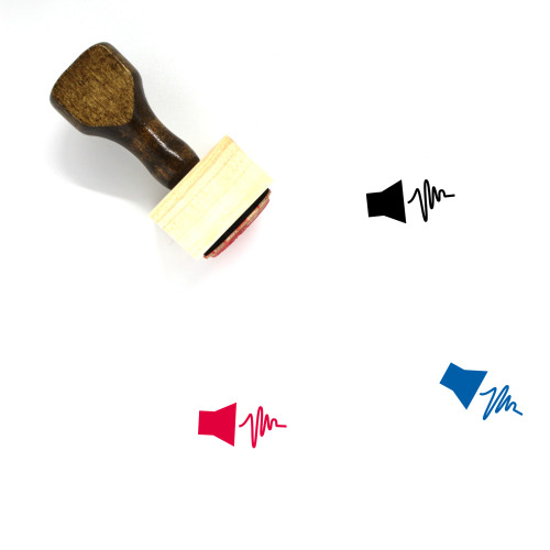 Audio Wooden Rubber Stamp No. 16