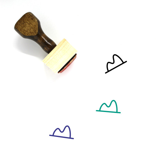 Hat Wooden Rubber Stamp No. 290