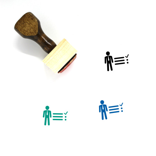 Tasks Wooden Rubber Stamp No. 6