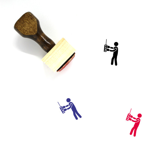 Boxer Wooden Rubber Stamp No. 10