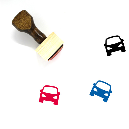 Car Wooden Rubber Stamp No. 457