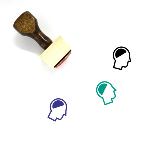 Brain Wooden Rubber Stamp No. 183