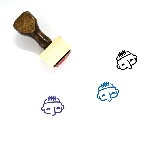 Brain Processing Wooden Rubber Stamp No. 1