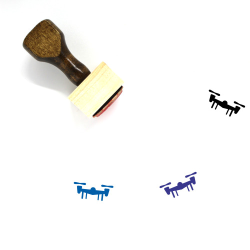 Drone Wooden Rubber Stamp No. 94