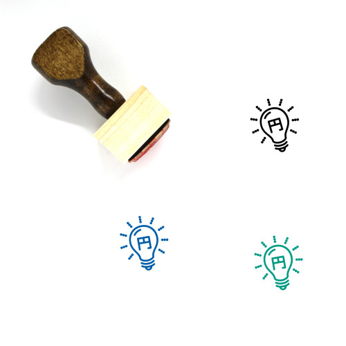 Light Bulb Wooden Rubber Stamp No. 381