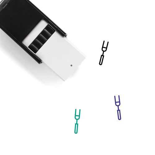 Grill Fork Self-Inking Rubber Stamp No. 4