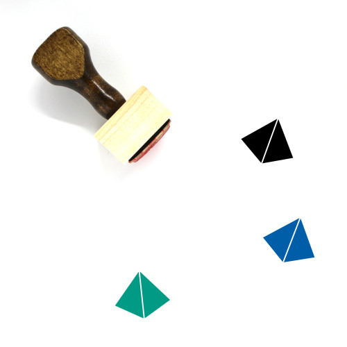 Pyramid Wooden Rubber Stamp No. 77