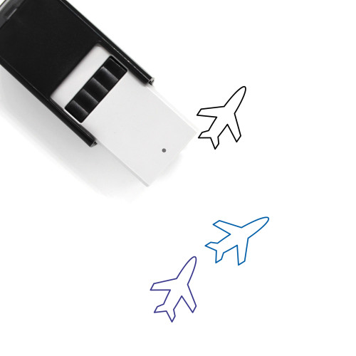 Airplane Self-Inking Rubber Stamp No. 357