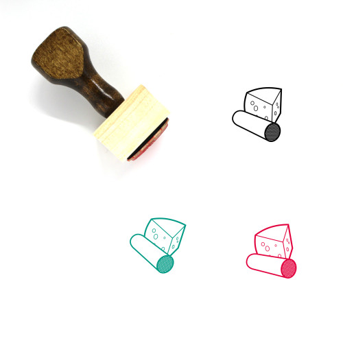 Meat And Cheese Wooden Rubber Stamp No. 1
