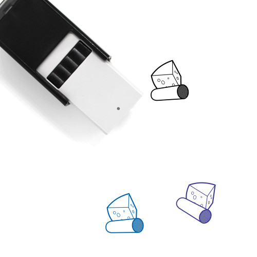 Meat And Cheese Self-Inking Rubber Stamp No. 1