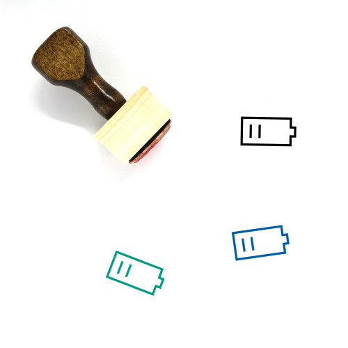 Battery Wooden Rubber Stamp No. 484