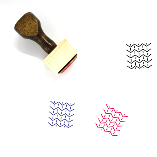 Fabric Wooden Rubber Stamp No. 71