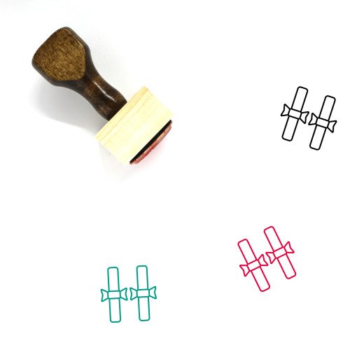Diplomas Wooden Rubber Stamp No. 1
