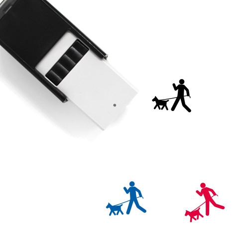 Walking The Dog Self-Inking Rubber Stamp No. 2