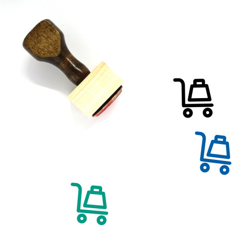 Hand Truck Wooden Rubber Stamp No. 54