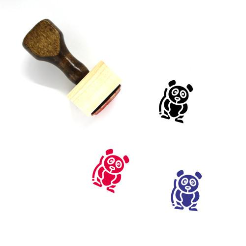 Panda Wooden Rubber Stamp No. 90