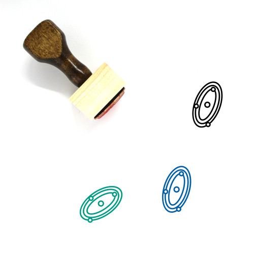 Planets Wooden Rubber Stamp No. 9