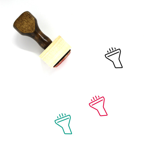 Funnel Wooden Rubber Stamp No. 48