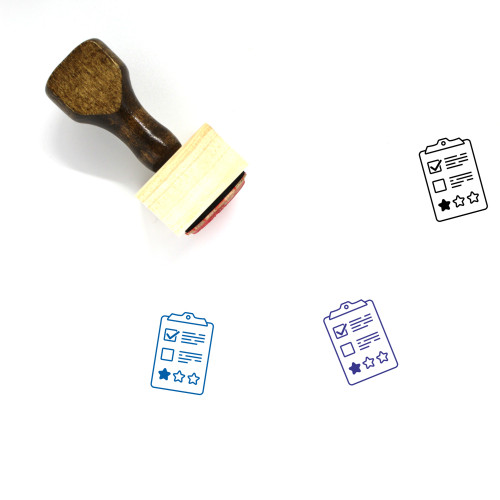 Report Wooden Rubber Stamp No. 200