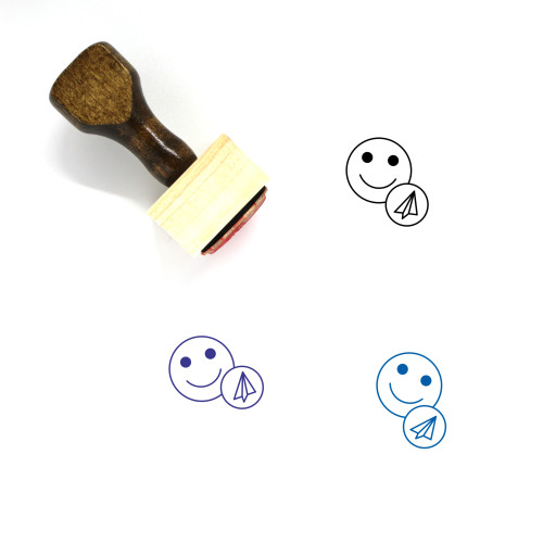 Share Profile Details Wooden Rubber Stamp No. 1