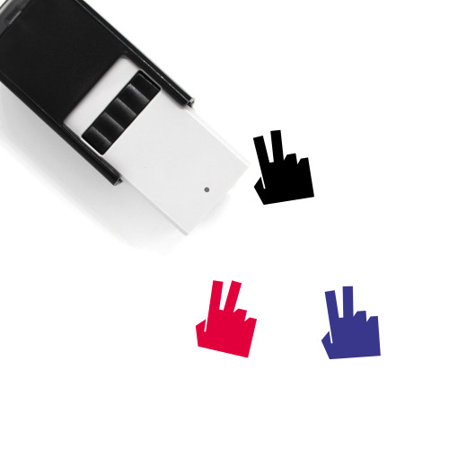 Two Fingers Self-Inking Rubber Stamp No. 8