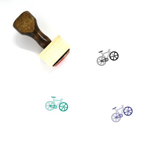 Bicycle Wooden Rubber Stamp No. 124
