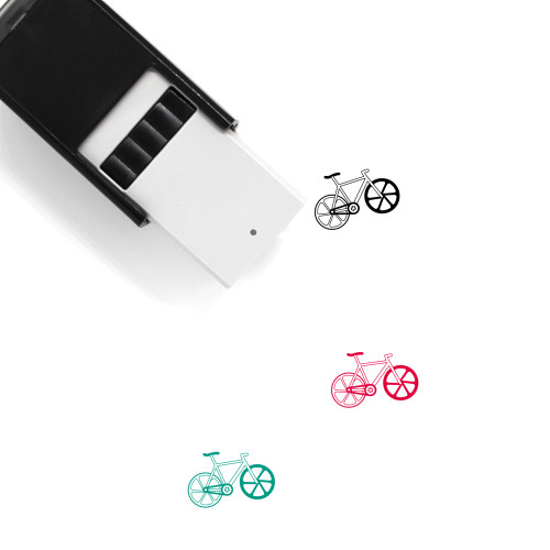 Bicycle Self-Inking Rubber Stamp No. 124