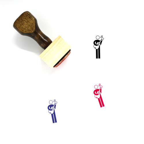 Musician Wooden Rubber Stamp No. 7