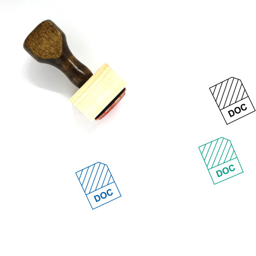 Doc Wooden Rubber Stamp No. 36