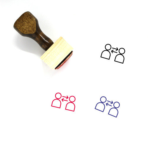 Substitute Wooden Rubber Stamp No. 6