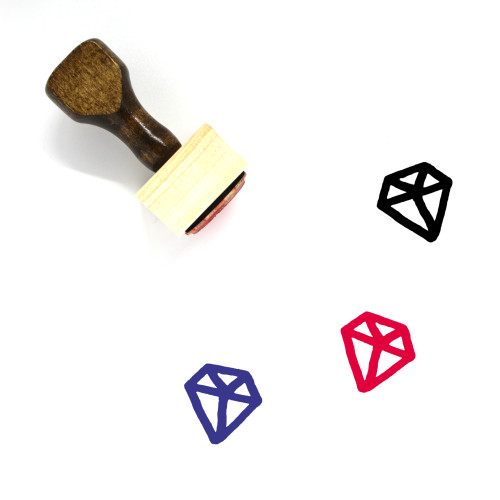 Diamond Wooden Rubber Stamp No. 151