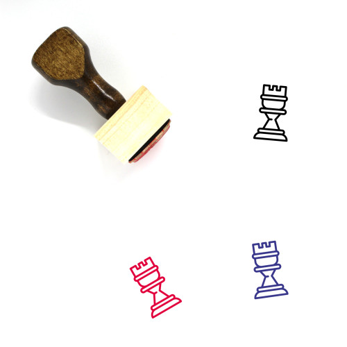 Rook Wooden Rubber Stamp No. 56
