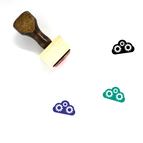 Cloud Wooden Rubber Stamp No. 392