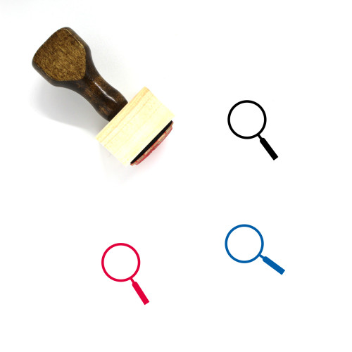 Magnifying Glass Wooden Rubber Stamp No. 291