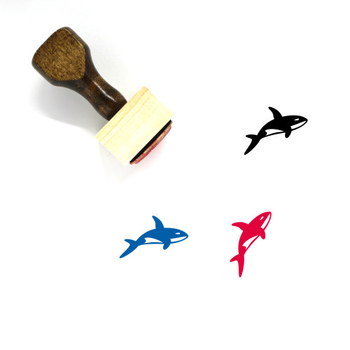 Orca Wooden Rubber Stamp No. 3