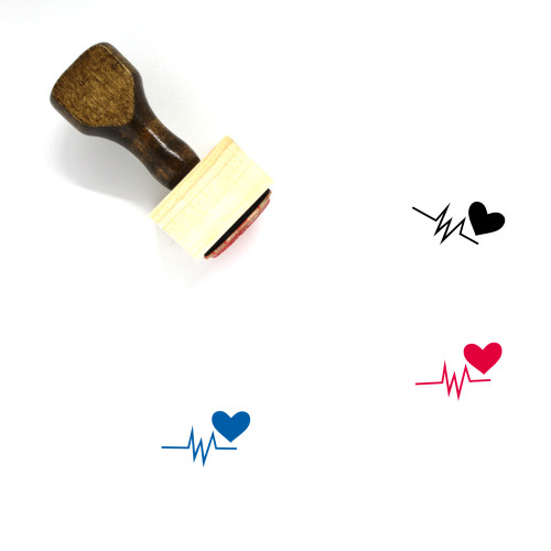 Heart Signal Wooden Rubber Stamp No. 2
