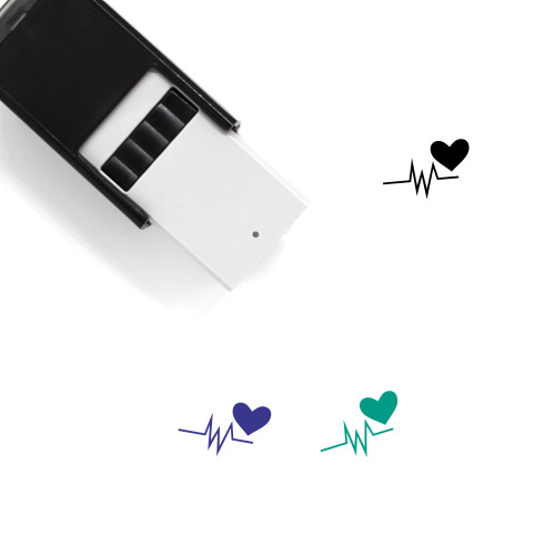 Heart Signal Self-Inking Rubber Stamp No. 2