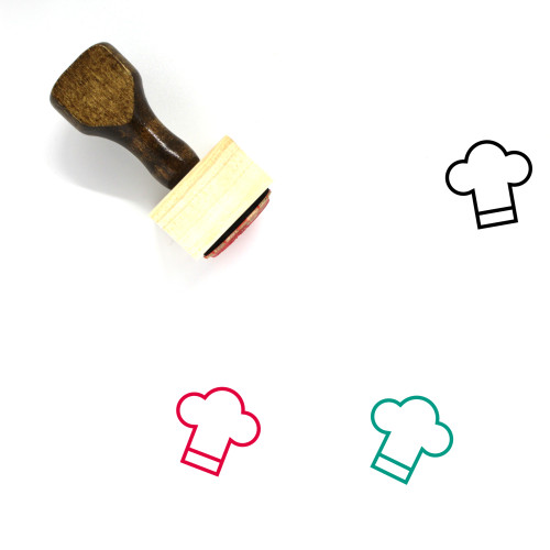 Chef Wooden Rubber Stamp No. 132