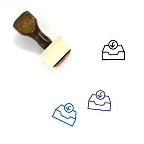 Inbox Wooden Rubber Stamp No. 87