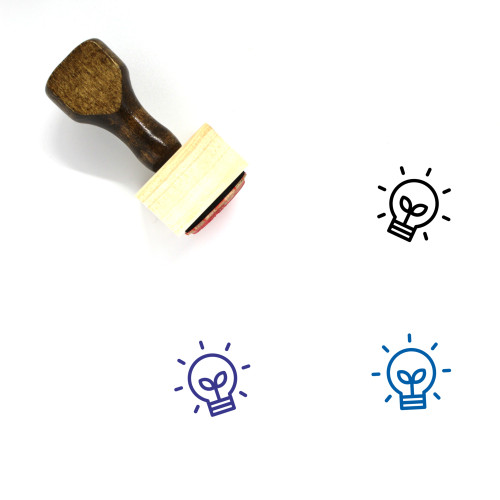 Eco Friendly Bulb Wooden Rubber Stamp No. 1