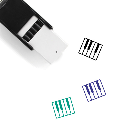 Piano Keys Self-Inking Rubber Stamp No. 14