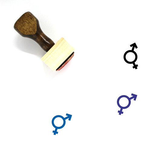 Bisexual Clean Wooden Rubber Stamp No. 1