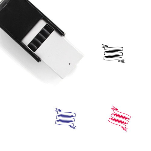 Ribbon Banner Self-Inking Rubber Stamp No. 71