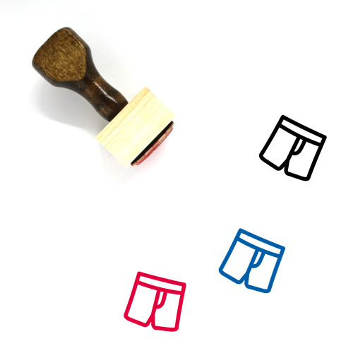 Boxers Wooden Rubber Stamp No. 10