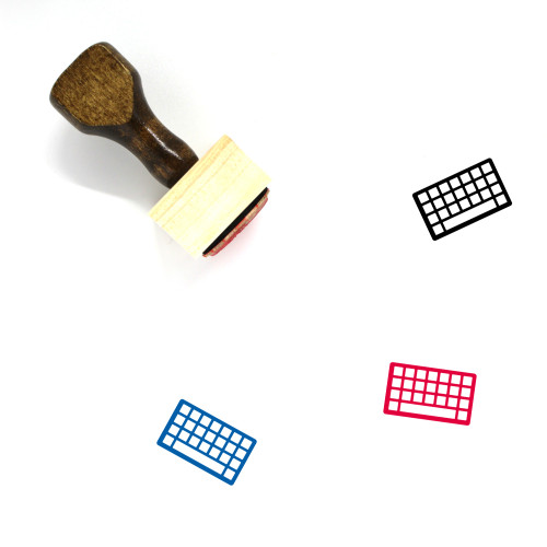Keyboard Wooden Rubber Stamp No. 36