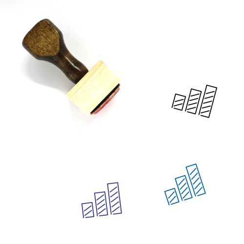 Bar Graph Wooden Rubber Stamp No. 72