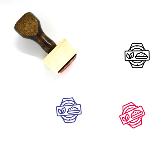Health Food Wooden Rubber Stamp No. 4
