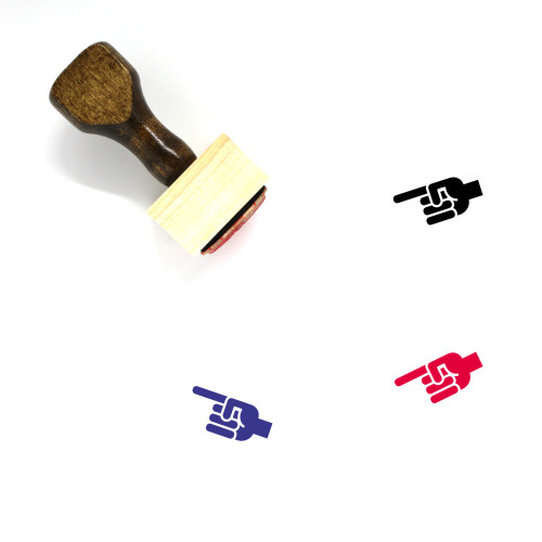 Point Wooden Rubber Stamp No. 131