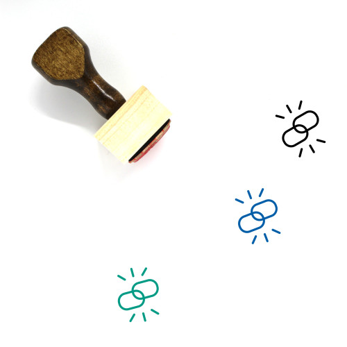 Links Wooden Rubber Stamp No. 36