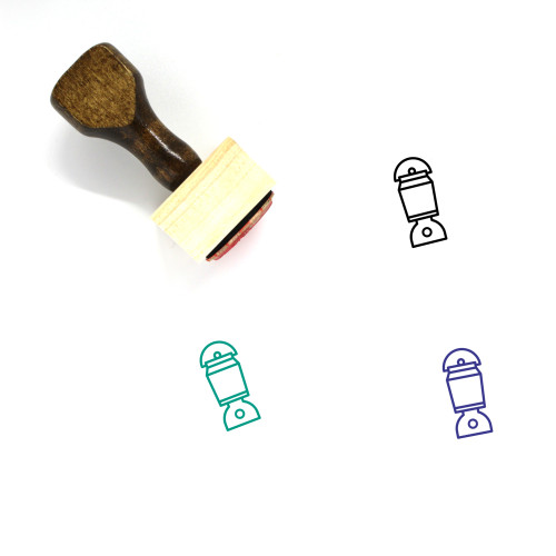 Lamp Wooden Rubber Stamp No. 209